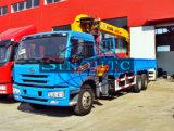 トラック8-12トンはFAWの貨物自動車のクレーン貨物自動車のトラック取付けられたクレーンを取付けた