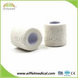 Colorida Medical algodón cohesivo vendaje de gasa elástica autoadhesiva