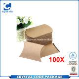 カスタマイズされた包装のFoldableクラフト紙の枕紙箱