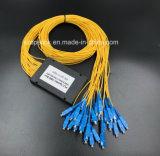 Divisore del PLC di telecomunicazione 1X32 di Gpon del cavo ottico della fibra