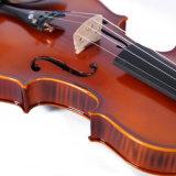 Твердая скрипка с думмичным красным цветом Brown пламени