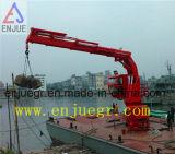 Xangai Enjue Telescópica hidráulica elétrica Offshore Deck Marinho Guindaste