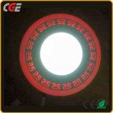 Lampes de panneau à LED Lampes intérieure 3+3W/6+3W/12+6W/18+6W double panneau Couleurs lumière