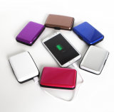 RFID 배터리 충전기, 2000mAh 힘 은행, 원자 책임 지갑을%s 가진 알루미늄 카드 지갑