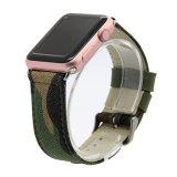 Band van het Horloge van het Leer van het Canvas van de Stijl van de vrije tijd de Echte voor Reeks 1 2 3 van de Band van het Horloge van de Appel