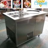 Máquina de piedra fría del helado del rodillo de la fritada con 6 envases