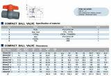 시대 벨브, PVC 조밀한 공 벨브, Pn10 (F1970), NSF Pw & Upc