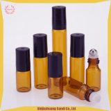 Rouleau d'emballage OEM sur la bouteille- Rouleau parfum cosmétiques- verre bouteille ambre
