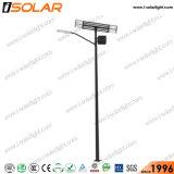 ISOによって証明される二重LEDランプ100Wの太陽街灯