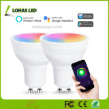 RGB+Daylight Dimmable LED intelligente Scheinwerfer-Arbeit der Glühlampe-GU10 LED mit Alexa