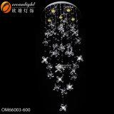 Treppe, die gewundene hängende Leuchter-Kristalllampen Om9100 hängt
