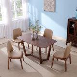 De houten Hoogste Eettafel van de Steen van het Kwarts van het Meubilair van het Huis voor Restaurant