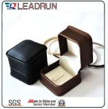 Коробка коробки кожи коробки упаковки коробки Jewellery коробки коробки хранения ювелирных изделий коробки ювелирных изделий подарка бумажная деревянная упаковывая установленная для кольца (Yslj13A)
