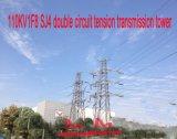 Doppia torretta della trasmissione di tensionamento del circuito di Megatro 110kv 1f8 Sj4
