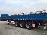 Type plat cargaison du mur latéral 3axle/semi-remorque de frontière de sécurité