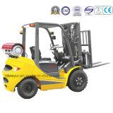 Caminhão de Forklift duplo do combustível do preço de fábrica 1.5t-3.5t LPG para a equitação
