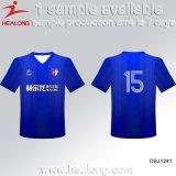 Maglietta Quick-Dry di stampa di sublimazione degli abiti sportivi superiori di vendita di Healong