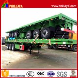세 배 반 차축 20/40ft 평상형 트레일러 콘테이너 자물쇠 콘테이너 트레일러