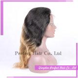 Peluca llena del cordón del pelo humano de la densidad del 150% de la alta calidad