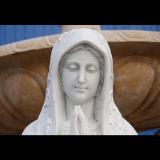 Tallado a mano Metrix Carrara estatua de Maria de la decoración del hogar Ms-1009