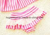 Kid Girl's Strip Bikini, Adorável Baby Baby Suit