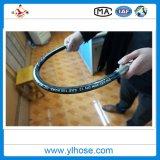 La haute pression sur le fil tressé Le flexible hydraulique en caoutchouc