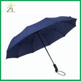 L'aluminium-châssis en fibre de verre parapluie automatique avec le logo pour les hommes