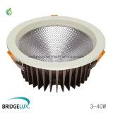 8 ÉPI commercial de taille de trou de pouce 40W 200mm DEL Downlight avec le lumen élevé