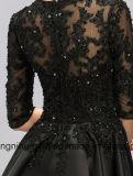 Frauen-Spitze, die reizvolles Abend-Partei-Abschlussball-Kleid bördelt