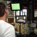 Macchina fotografica del video del carrello elevatore con la Banca di potere