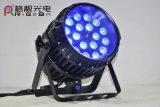 Bewegliches 18LEDs 10W RGBW 4in1 im Freien LED lautes Summen NENNWERT Licht