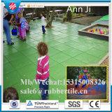 多彩な微粒のカーペット、ゴム製床タイル、安全屋外のタイル