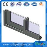 Schiebendes Aluminiumfenster mit hölzerner Farbe