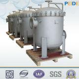 Filtros de bolsas múltiples para la filtración de fluidos de terminación de desulfuración de aminas