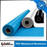 Het Waterdichte Membraan van pvc voor Dak/Kelderverdieping/Pool/Vijver met ISO (1.2mm /1.5mm/ 2.0mm)