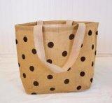 Учтивый мешок шнура притяжки джута, хозяйственная сумка