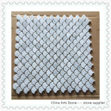 Weiße Bianco Carrara Marmormosaik-Fliese China-für Wand-Dekoration