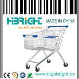 아기 시트 (HBE-A-150)를 가진 150L 슈퍼마켓 금속 쇼핑 트롤리