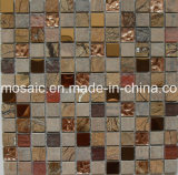 Classicialの雨林の自然な石の、ガラスおよびステンレス製のモザイク