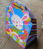 Die-Cut Design Glitter Happy Easter Holiday Printing Sacos de papel de presente promocional