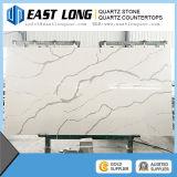 Pedra de superfície Polished nova de quartzo de 2016 Calacatta, bancadas brancas artificiais da pedra de quartzo