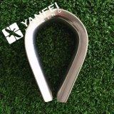 Aço inoxidável G411 nós tipo dedal para a corda de fio