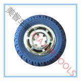 100/127/150/200 mm 단단한 고무 장난감 바퀴