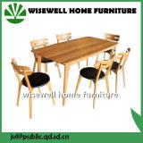 Eichen-Holz-Speisetisch mit 6 speisenden Stühlen (W-DF-0636)