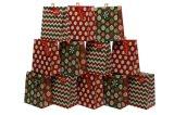 Kerstmis schittert de Zakken van de Gift van het Ontwerp, het Winkelen de Zak van het Document, de Zak van het Document van de Gift