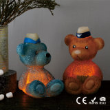 Velas de cintilação do diodo emissor de luz do urso da peluche do presente de aniversário do partido da fábrica de China