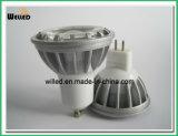 lámpara baja del proyector de la MAZORCA MR16 de la aleación LED de Alluminum del poder más elevado de 5W 12V Gu5.3 para el uso de interior con Ce y RoHS