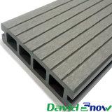 Decking composito di plastica esterno 135*25mm della cavità di Decking della pavimentazione WPC