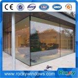Portelli di vetro anteriori residenziali commerciali glassati Frameless esterni