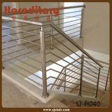 De eenvoudige Balustrade van het Roestvrij staal van het Ontwerp voor het Traliewerk van de Trede (sj-H040)